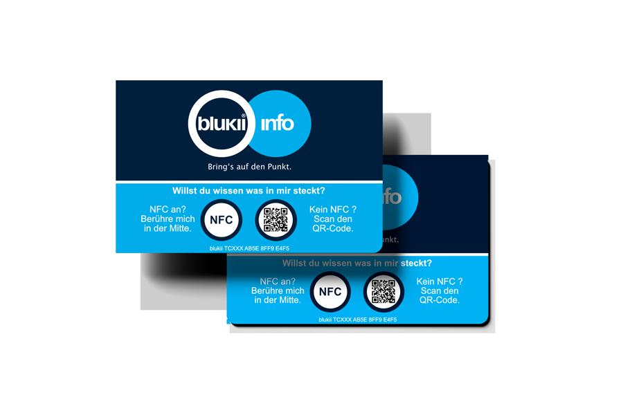 blukii Info NFC Karten.